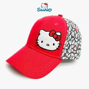 Hello Kitty Red Bow Girls Golf Hat